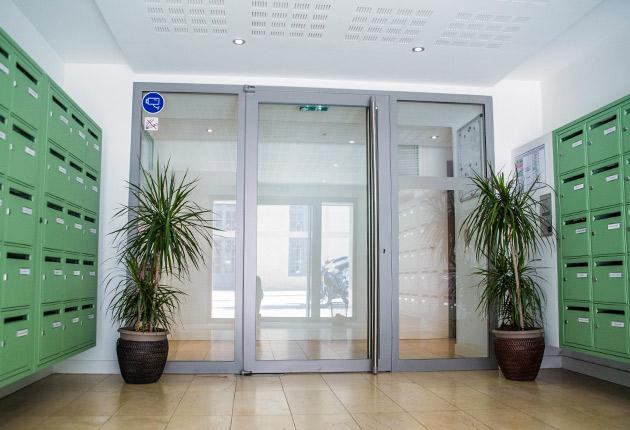 Hall d'entrée de la résidence pour étudiants J-F.de La Pérouse, Versailles (78000)