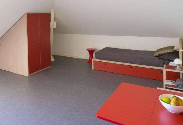 Intérieur studio pour étudiant à la résidence J-F.de La Pérouse à Versailles (78000)