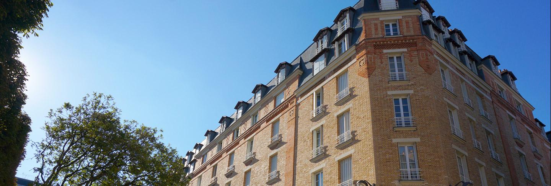 Façade extérieure de la résidence étudiante J.Lejeune, Paris (75015)