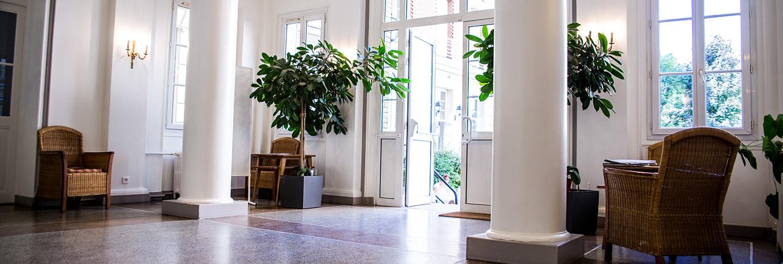 Hall d'entrée de la Résidence J. Lejeune pour les étudiants en plein coeur de Paris (75015)