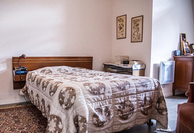 Chambre d'un appartement privatif pour senior de la maison de retraite C.Foucauld à Saint-Brice-Sous-Forêt (95350)