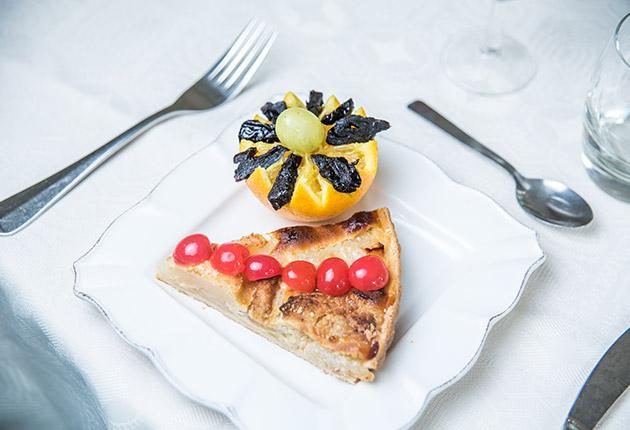 Dessert gourmet servi dans l'une des cantines des maisons de retraite de l'Agefo