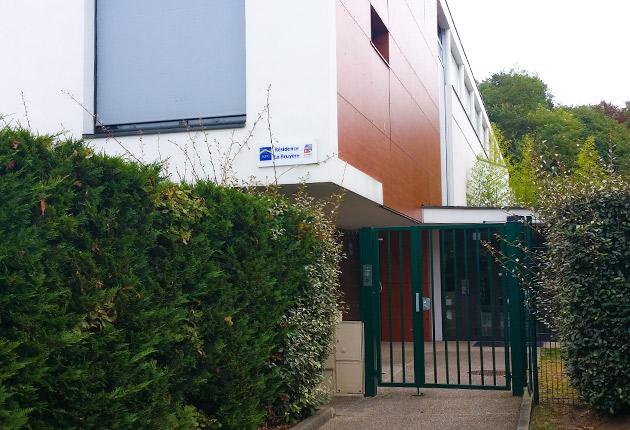 Entrée de la résidence Résidence J. de La Bruyère, Poissy (78300)
