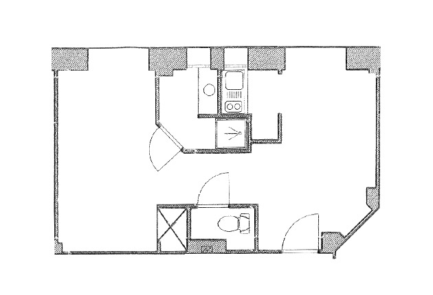 plan de la maison de retraite du Pavillon M.Caters, Paris 75015