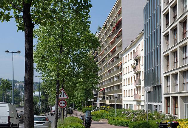 Façade de la résidence pour jeunes actifs à Boulogne ( 92100)