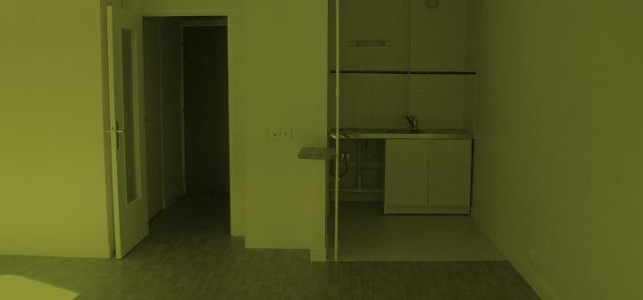 Intérieur d'un appartement dans la maison de retraite H.Berlioz à Saint-Germain-En-Laye (78100)