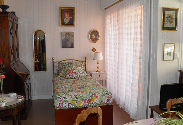 Chambre d'un appartement de la maison de retrait H.Berlioz à Saint-Germain-En-Laye (78100)