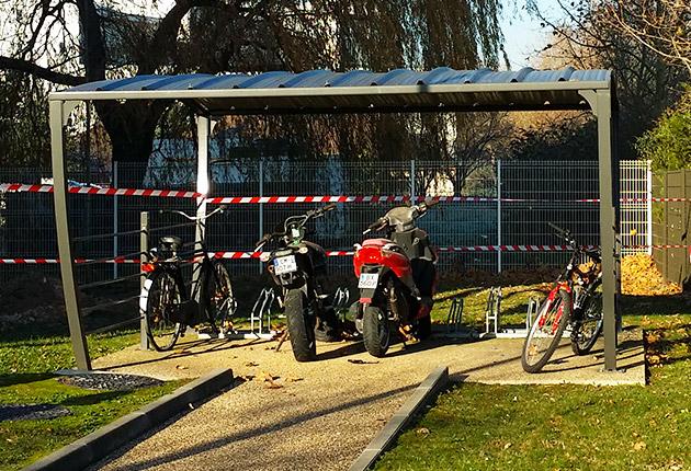 Parking pour deux roues de la résidences G.Monchaux, Achères (78260)