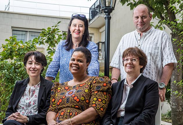 Photo d'équipe de l'Agefo, gestionnaire de résidence pour seniors étudiants et jeunes actifs en Ile-de-France