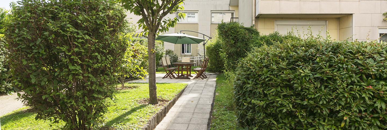 Jardin privatif de la maison de retraite R.Debenedetti à Sartrouville (78500)
