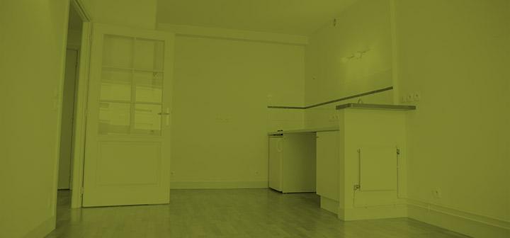 Intérieur d'un appartement dans la maison de retraite R.Debenedetti à Sartrouville (78500)