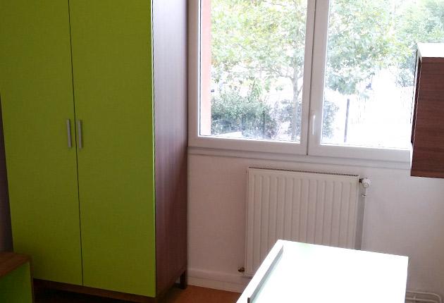 Intérieur d'un studio de la Résidence G. Monchaux à Achères (78260)