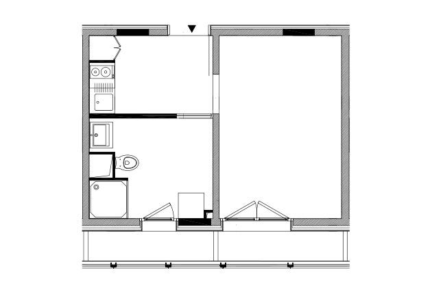 plan d'un studio pour jeunes actifs à Achères (78260)