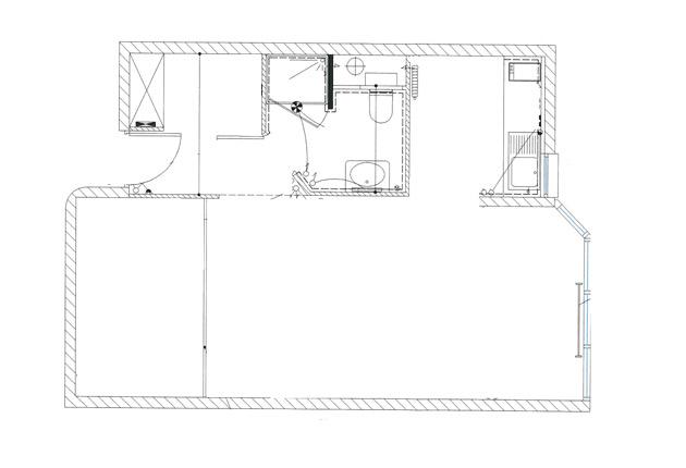 Plan d'un appartement de la maison de retraite E.Dobler à Soisy-Sous-Montmorency 95230
