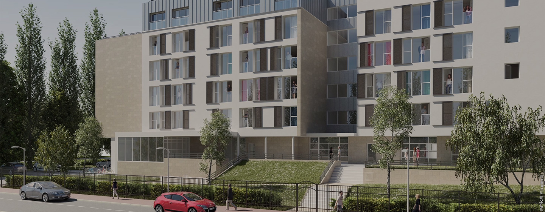 Nouvelle résidence pour étudiants et jeunes actifs<br>Thérèse Papillon<br>Ouverture prochaine, début 2021
